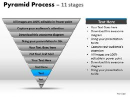 87448693 Style Layered Pyramid 11 Piece Powerpoint Presentation Diagram Infographic Slide