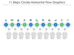11 Steps Circles Horizontal Flow Graphics