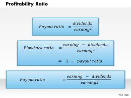 1203 Profitability Ratio Powerpoint Presentation