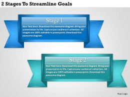 1213 Business Ppt diagram 2 Stages To Streamline Goals Powerpoint Template