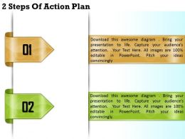 1213 Business Ppt diagram 2 Steps Of Action Plan Powerpoint Template