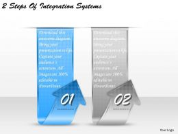 1213 Business Ppt diagram 2 Steps Of Integration Systems Powerpoint Template