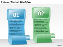 1213 Business Ppt diagram 2 Steps Vertical Workflow Powerpoint Template