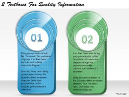 1213 Business Ppt diagram 2 Textboxes For Quality Information Powerpoint Template