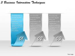 1213 Business Ppt diagram 3 Business Interaction Techniques Powerpoint Template