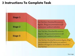 1213 Business Ppt Diagram 3 Instructions To Complete Task Powerpoint Template