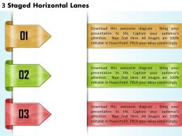 1213 Business Ppt diagram 3 Staged Horizontal Lanes Powerpoint Template