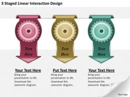 1213 Business Ppt diagram 3 Staged Linear Interaction Design Powerpoint Template