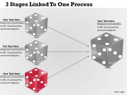 1213 Business Ppt Diagram 3 Stages Linked To One Process Powerpoint Template