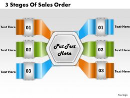 1213 Business Ppt Diagram 3 Stages Of Sales Order Powerpoint Template
