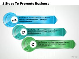 1213 Business Ppt Diagram 3 Steps To Promote Business Powerpoint Template