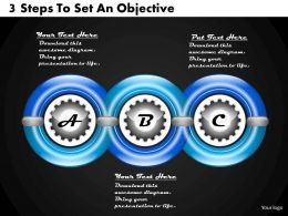 1213 Business Ppt Diagram 3 Steps To Set An Objective Powerpoint Template