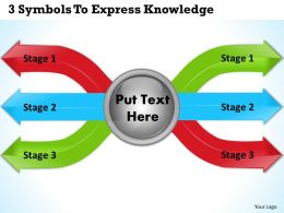 1213 Business Ppt Diagram 3 Symbols To Express Knowledge Powerpoint Template