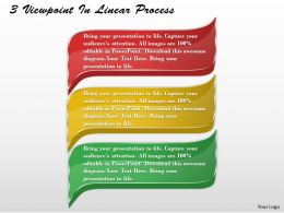 1213 Business Ppt Diagram 3 Viewpoints In Linear Process Powerpoint Template