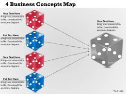1213 Business Ppt Diagram 4 Business Concepts Map Powerpoint Template