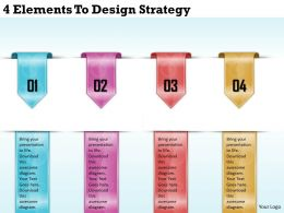 1213 Business Ppt diagram 4 Elements To Design Startegy Powerpoint Template