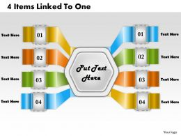 1213 Business Ppt Diagram 4 Items Linked To One Powerpoint Template