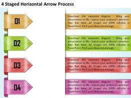 1213 Business Ppt diagram 4 Staged Horizontal Arrow Process Powerpoint Template
