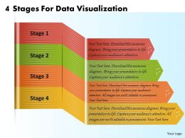 1213 Business Ppt Diagram 4 Stages For Data Visualization Powerpoint Template