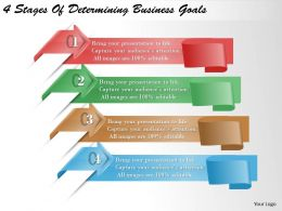 1213 Business Ppt diagram 4 Stages Of Determining Business Goals Powerpoint Template