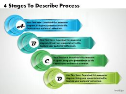 1213 Business Ppt Diagram 4 Stages To Describe Process Powerpoint Template