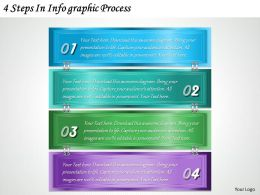 1213 Business Ppt diagram 4 Steps In Infographic Process Powerpoint Template