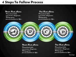 1213 Business Ppt Diagram 4 Steps To Follow Process Powerpoint Template