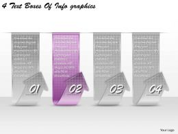 1213 Business Ppt diagram 4 Text Boxes Of Infographics Powerpoint Template