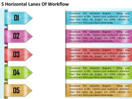1213 Business Ppt diagram 5 Horizontal Lanes Of Workflow Powerpoint Template