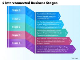 1213 Business Ppt Diagram 5 Interconnected Business Stages Powerpoint Template