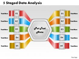 1213 Business Ppt Diagram 5 Staged Data Analysis Powerpoint Template