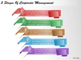 1213 Business Ppt diagram 5 Stages Of Corporate Management Powerpoint Template