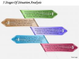 1213 Business Ppt Diagram 5 Stages Of Situation Analysis Powerpoint Template