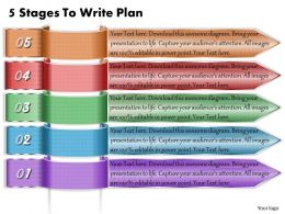 1213 Business Ppt Diagram 5 Stages To Write Plan Powerpoint Template