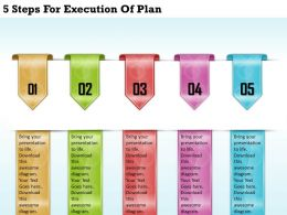 1213 Business Ppt diagram 5 Steps For Execution Of Plan Powerpoint Template