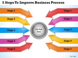 1213 Business Ppt Diagram 5 Steps To Improve Business Process Powerpoint Template
