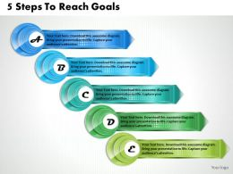 1213 Business Ppt Diagram 5 Steps To Reach Goals Powerpoint Template