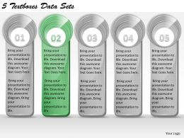 1213 Business Ppt diagram 5 Textboxes Data Sets Powerpoint Template