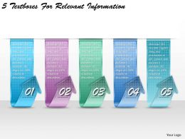 1213 Business Ppt diagram 5 Textboxes For Relevant Information Powerpoint Template