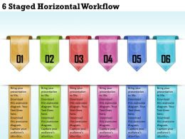 1213 Business Ppt diagram 6 Staged Horizonatl Workflow Powerpoint Template