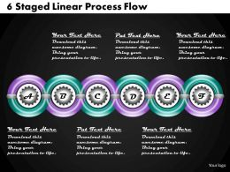 1213 Business Ppt Diagram 6 Staged Linear Process Flow Powerpoint Template