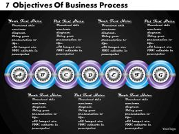 1213 Business Ppt Diagram 7 Objectives Of Business Process Powerpoint Template
