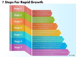 1213 Business Ppt Diagram 7 Steps For Rapid Growth Powerpoint Template