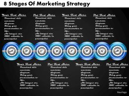 1213 Business Ppt Diagram 8 Stages Of Marketing Strategy Powerpoint Template