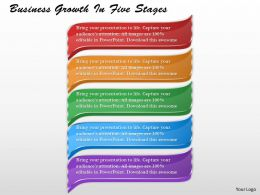 1213 Business Ppt Diagram Business Growth In Five Stages Powerpoint Template