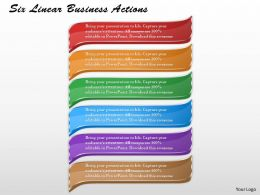 1213 Business Ppt Diagram Six Linear Business Actions Powerpoint Template