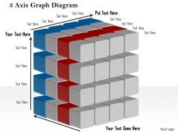 1214 3 Axis Graph Diagram Powerpoint Presentation