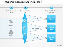 1214 3 Step Process Diagram With Icons PowerPoint Presentation
