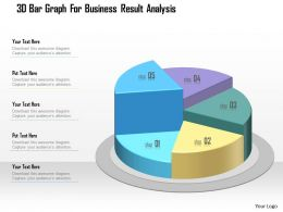 1214 3d Bar Graph For Business Result Analysis Powerpoint Template
