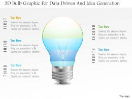 1214 3d Bulb Graphic For Data Driven And Idea Generation Powerpoint Slide